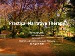 Practical Narrative Therapy