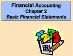 Financial A ccounting Chapter 2 Basic Financial Statements