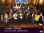 MICHAEL JACKSON: we are the world - USA for Africa