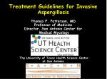 IDSA Clinical Practice Guidelines for Aspergillosis 2008