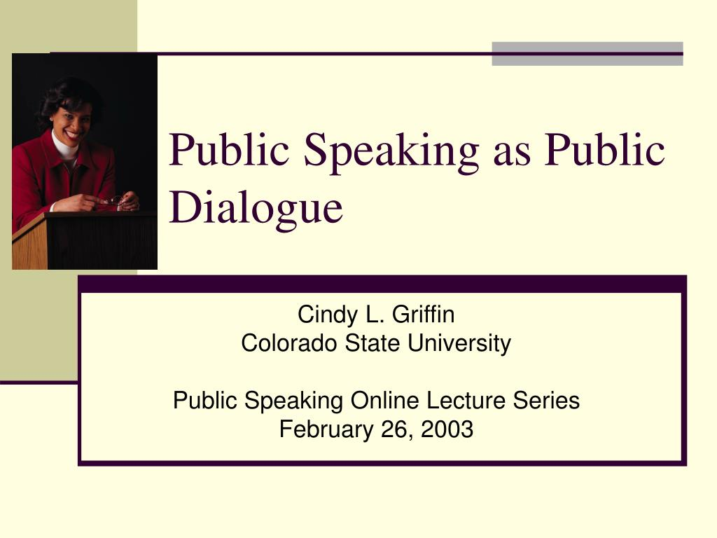 public speaking as public dialogue l.