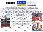 The relationship between Sport, Sponsorship and the Media…