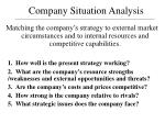 Company Situation Analysis