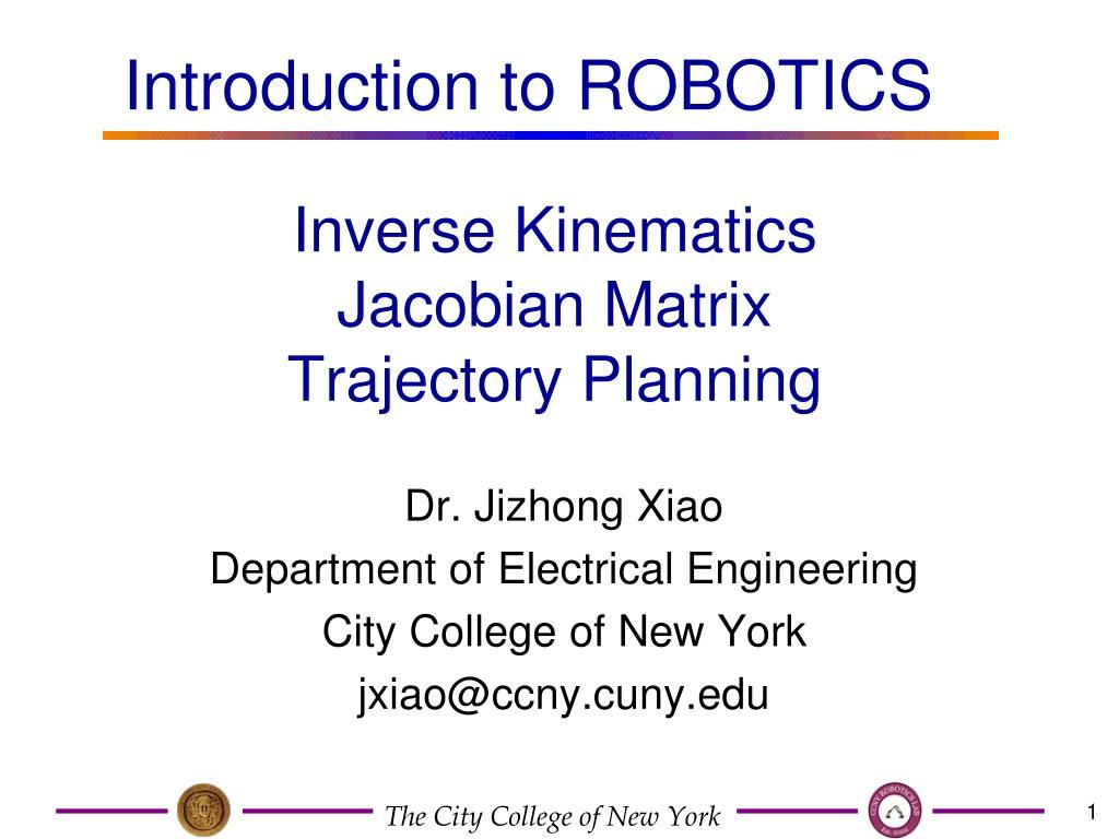 inverse kinematics jacobian matrix trajectory planning l.