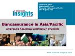 Bancassurance in Asia/Pacific