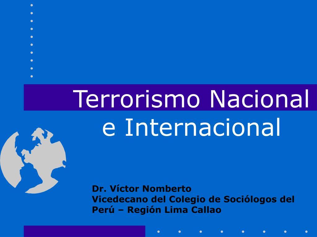 terrorismo nacional e internacional l.