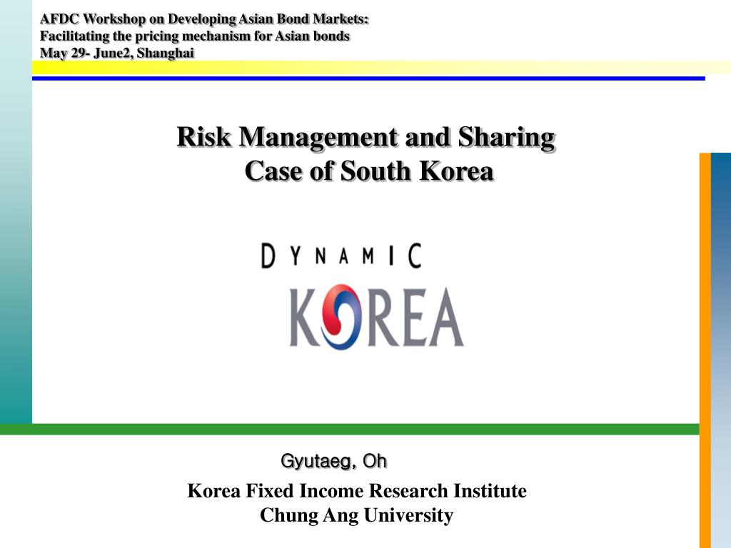 risk management and sharing case of south korea l.