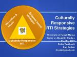 Culturally Responsive RTI Strategies
