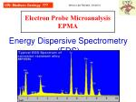 Energy Dispersive Spectrometry (EDS)