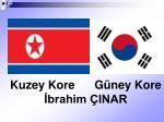 Kuzey Kore      Güney Kore İbrahim ÇINAR