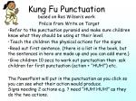 Kung Fu Punctuation based on Ros Wilson's work