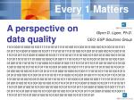 A perspective on data quality