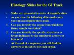 Histology Slides for the GI Track