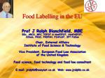 Food Labelling in the EU