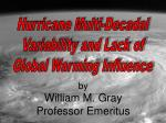 Hurricane Multi-Decadal Variability and Lack of Global Warming Influence