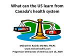 What can the US learn from Canada's health system