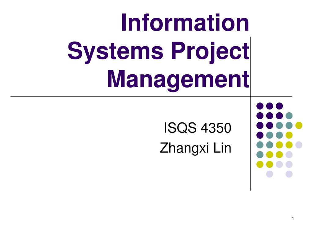 information systems project management l.