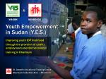 Youth Empowerment in Sudan (Y.E.S.)