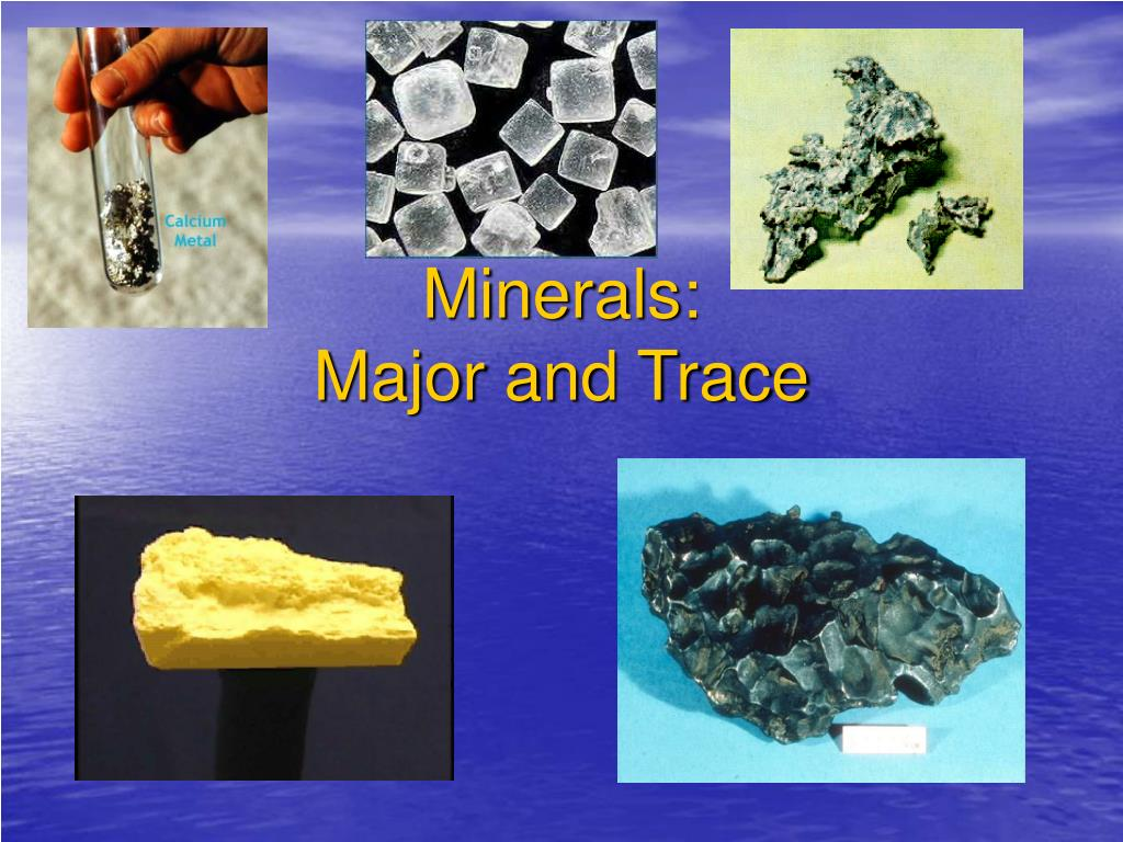 minerals major and trace l.