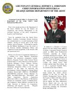 Lieutenant General Jeffrey A. Sorenson is the Department of the Army Staff's Chief Information Officer/G-6.