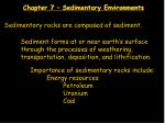 Chapter 7 – Sedimentary Environments