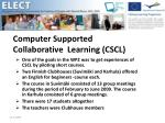 Computer Supported Collaborative Learning (CSCL)
