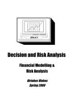 Decision and Risk Analysis