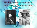 The Red Scare: A comparison of Charlie Chaplin and John Proctor.