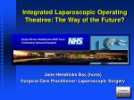 Integrated Laparoscopic Operating Theatres: The Way of the Future?