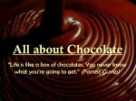All about Chocolate