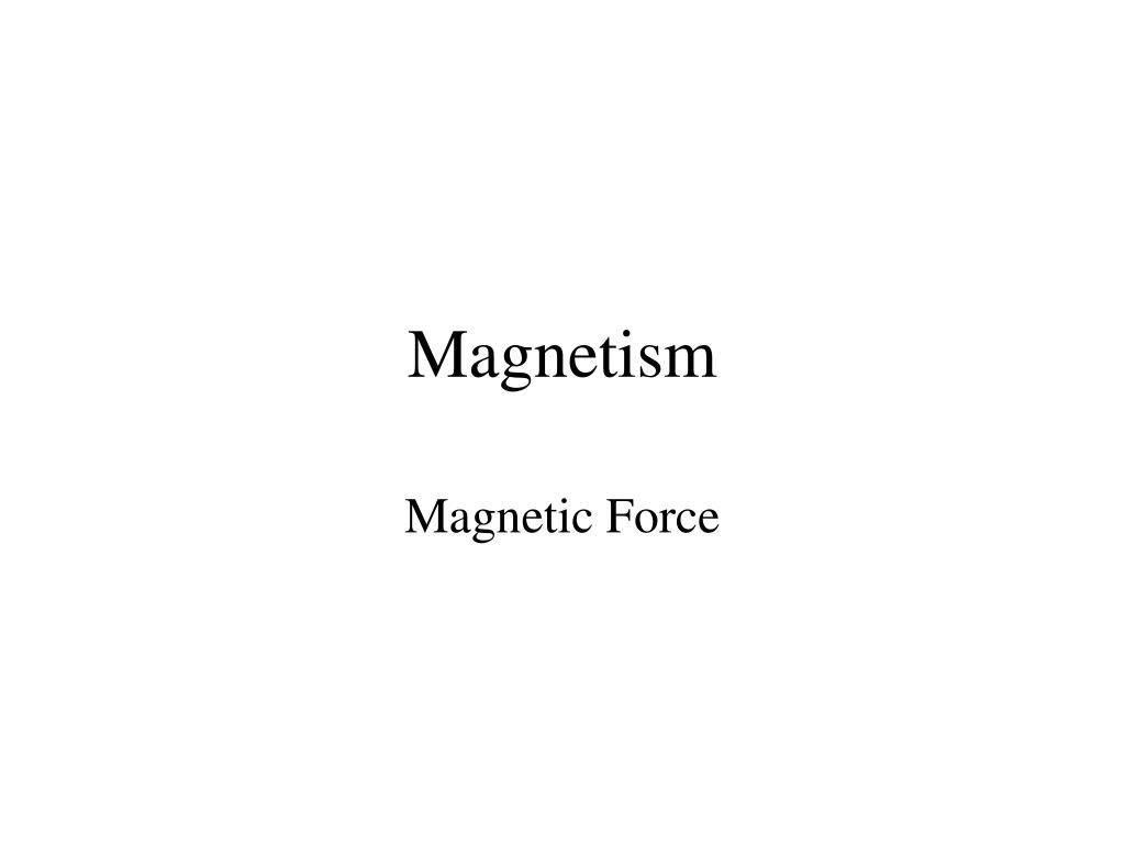 magnetism l.