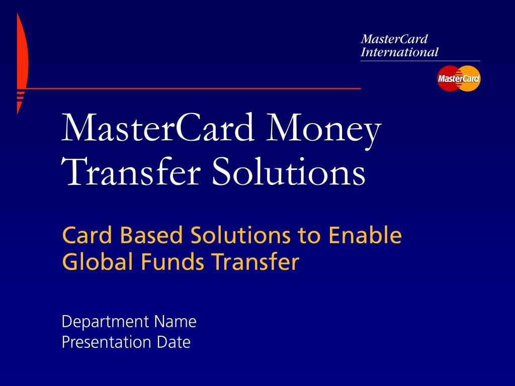 mastercard money transfer solutions l.