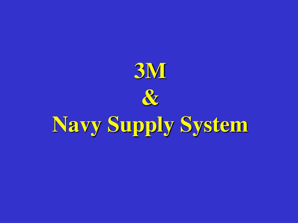3m navy supply system l.