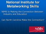 National Institute for Metalworking Skills