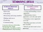 SCIENTIFIC SKILLS