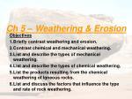 Ch 5 – Weathering & Erosion