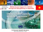 Market Access Support for Vietnam,  through the Strengthening of Capacities