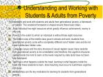 Understanding and Working with Students & Adults from Poverty