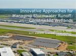 Innovative Approaches for Managing Stormwater Runoff: Constructed Wetlands