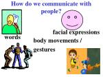 How do we communicate with people?