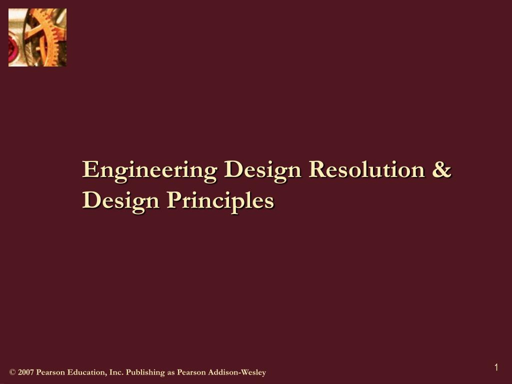 engineering design resolution design principles l.