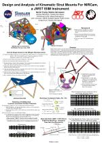 Design and Analysis of Kinematic Strut Mounts For NIRCam, a JWST ISIM Instrument Daniel Young, Swales Aerospace Andrew B