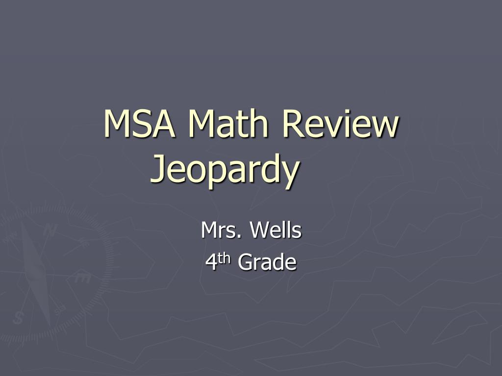msa math review jeopardy l.