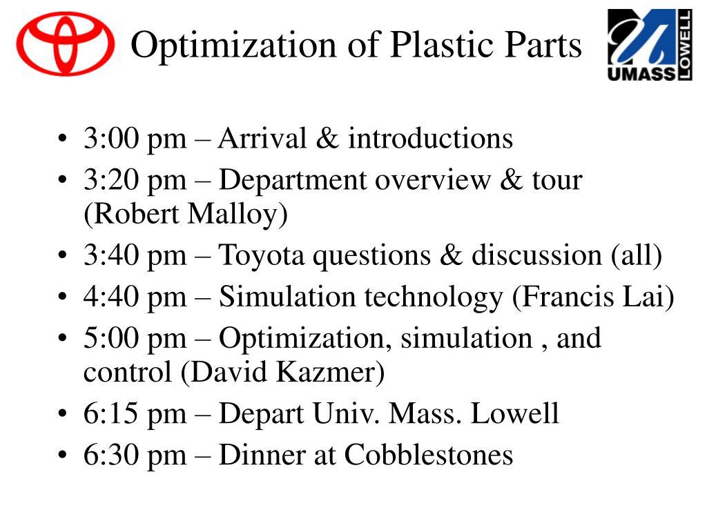 optimization of plastic parts l.