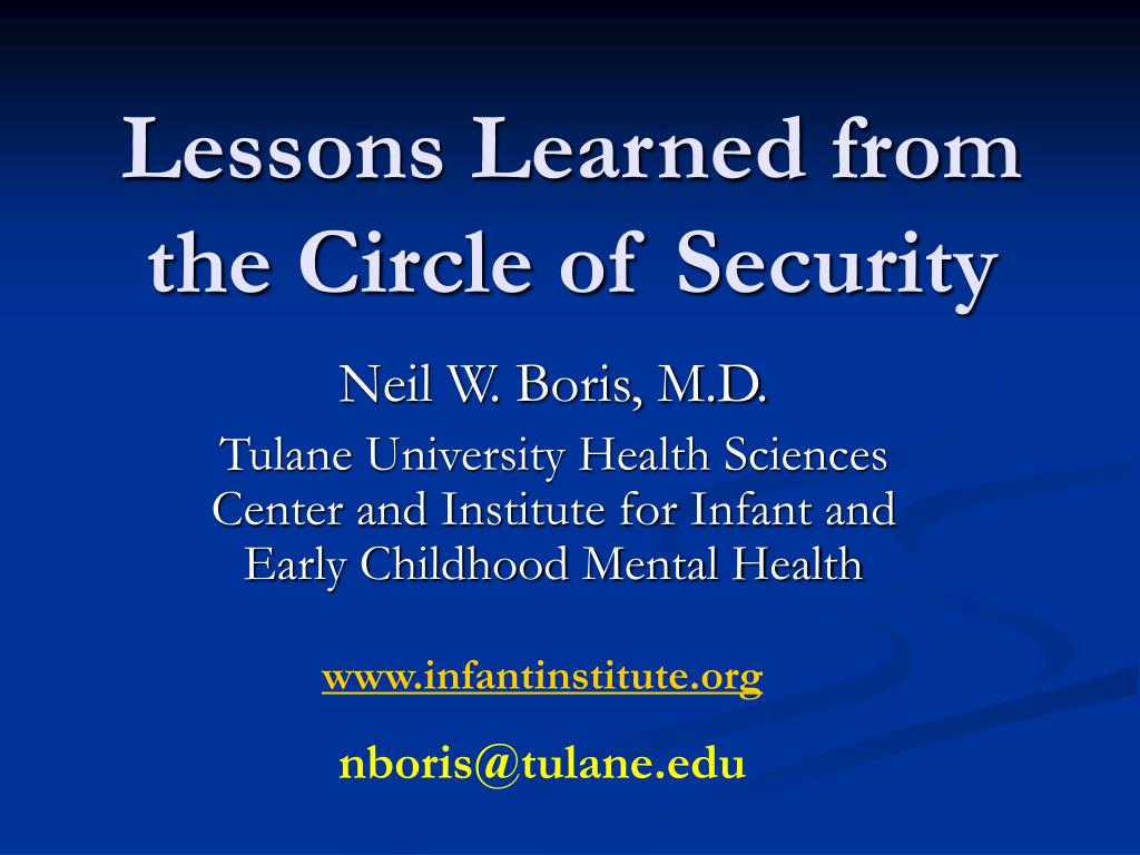 lessons learned from the circle of security l.