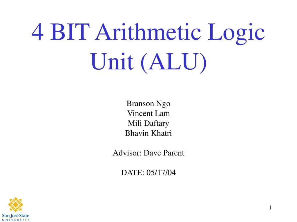 4 bit arithmetic logic unit alu l.
