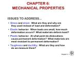 CHAPTER 6:   MECHANICAL PROPERTIES