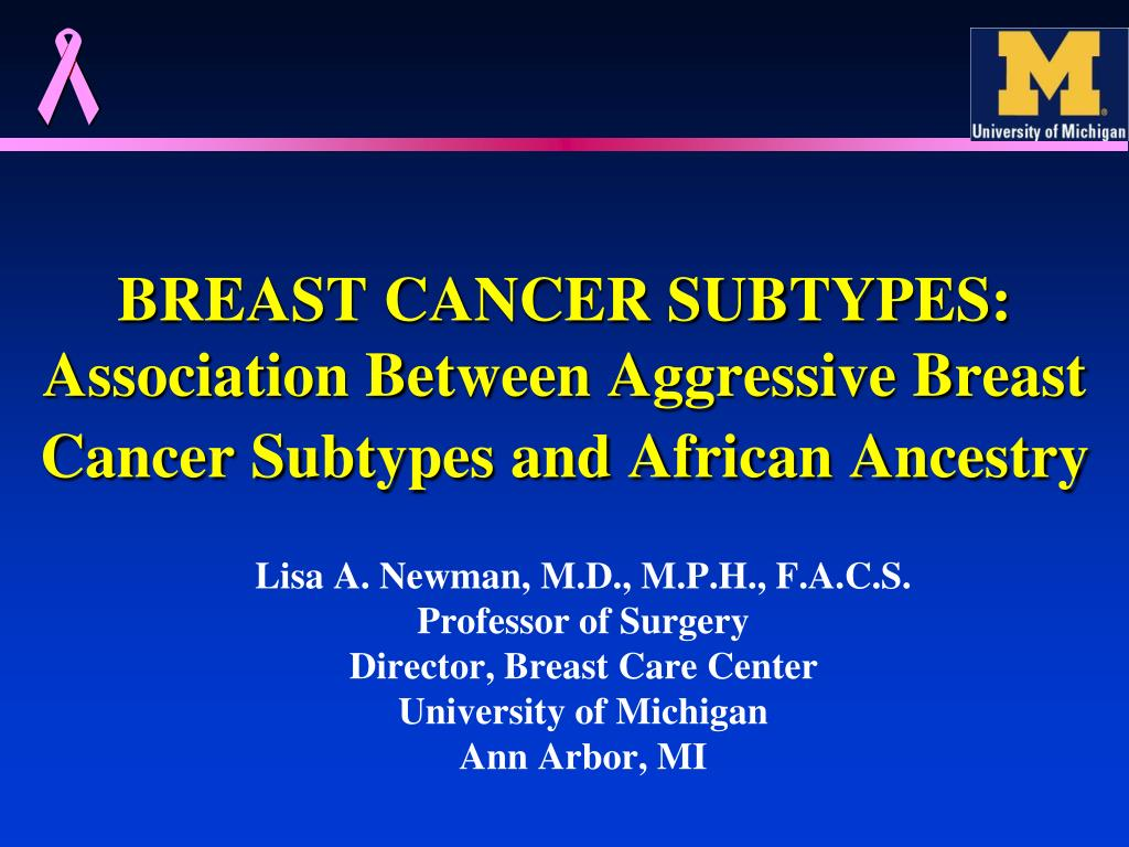 breast cancer subtypes association between aggressive breast cancer subtypes and african ancestry l.
