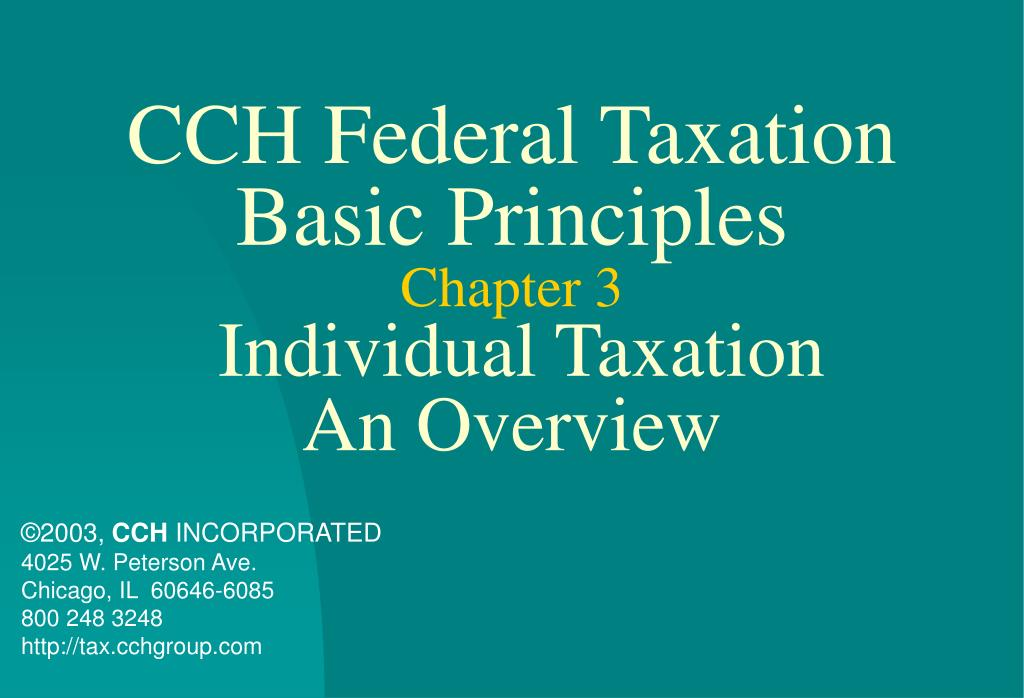 PPT CCH Federal Taxation Basic Principles Chapter 3