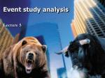 Event study analysis